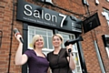 AT your service . . . Salon 7 manager Michelle Bradley (left) and beauty assessor Louise McDonnell
