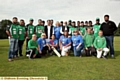 REMEMBERED: Glodwick Cricket Club (in green) played members of the Christie Allsorts fundraising group to honour Bilal.