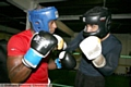 Pictured sparring with Marvin Greaves (left) is Remi Magnall.