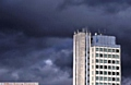 Dark skies loom over Oldham Civic Centre