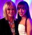 Lauren with actress Joanna Lumley