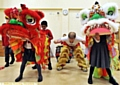 JUST VISITING: the Chinese dragon at Lyndhurst Primary School.