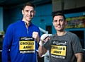 World Champion boxer Anthony Crolla (r) and boxing pal Callum Smith