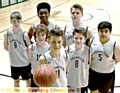 BIG SMILES . . . Crompton House�s Year Eight basketball team, fronted by captain Harry Pennells.