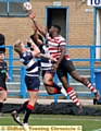 OLDHAM winger Jamel Chisholm was on the mark against London Broncos.