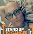 RAISING awareness . . .  Lindsey Tyrell, pictured during chemotherapy