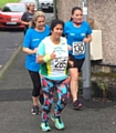 WHAT A TERRIFIC EFFORT . . . Road Runners' Angela Rogowskyj (front) gave it everything in Rochdale