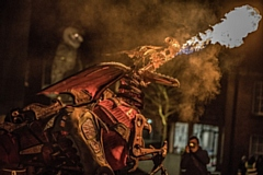 Don't miss the fire-breathing dragon at the Big Bang bonfire