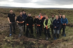 A team of 15 volunteers spent all day restoring the moorland