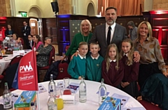 The graduation event was hosted by David Walliams OBE
