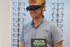 Blind author James Laird tries the exciting new eyewear