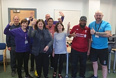 Pictured are participants with the Stroke Association team