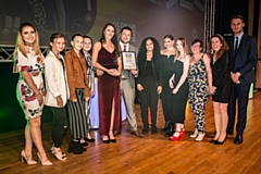 The team from Fierce Dance in Oldham - pictured with Oldham Council Leader Sean Fielding (far right) - will be up for the Club of the Year Award