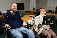 Andy and Nic pictured at the Ace Centre in Failsworth