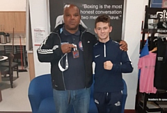 Will Cawley (right) pictured with Oldham Boxing and Personal Development Centre coach Eric Noi