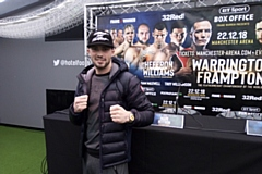 Raring to go: Mark Heffron pictured at today's undercard press conference