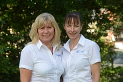 Stephanie Doherty (left) and Helan Graham from Caremark Oldham