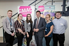 Andy Burnham meets Hopwood Hall College apprentices at GMAC's Apprenticeships Delivering the Standards conference