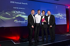 Northwood Oldham's Mike Procter (second right) receives his award