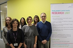 Pictured left to right (all from Pennine Care) are: Reagan Blyth, director of service modelling, research and innovation; Clare Nuttall, research clinician; Dr Prathiba Chitsabesan, consultant child and adolescent psychiatrist; Dr Sam Hartley, senior clinical psychologist; Dr Bernadka Dubicka; consultant psychiatrist and research lead; Dr Leo Kroll, child psychiatrist