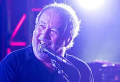 Pete Shelley pictured during last year's epic Uppermill Civic Hall gig