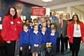 Whitegate End Primary School�s School Council (front) pictured with (from left to right); Emma Short and Lesley Appleton from Hand on Heart, Cllr Chris Goodwin, Cllr Graham Shuttleworth, Elaine Owens and Joanne Draper (both from Whitegate End Primary School).