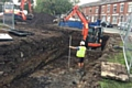 Construction work continues at the Cottam Street Pocket Park site