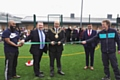 The new Greenhill Academy pitches are officially opened by Mayor of Oldham, Cllr Shadab Qumer