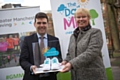 Mayor of Greater Manchester Andy Burnham with Elaine Wyllie, founder of the Daily Mile