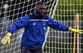 Athletic 'keeper Johny Placide saved a penalty at the Crown Oil Arena