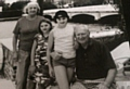 Ernie Burrington pictured during happy holiday times with his wife Nancy and granddaughters Victoria and Anna