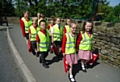 Putting their best foot forward to mark�'Walk to School Week'
