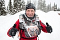 St Joseph's primary school's deputy head Steve Hill MBE during his recent Arctic Ice Ultra Marathon