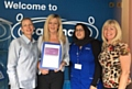 Caremark Oldham staff with their CQC certificate. Pictured (left to right) are: Helan Graham, Jane Grant, Nazia Begum and Stephanie Doherty