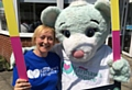 CEO Joanne Sloan with Hospice mascot Hope