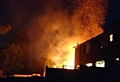 The house fire at the rear of Bromley Avenue in Royton last night.