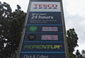 Petrol prices have risen sharply this year. Tesco's unleaded is priced at 123,9p per litre today (Thursday)
