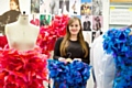 Oldhamer�Rose Connor with her fashion collection