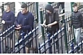British Transport Police would like to speak to these youths in connection with an assault that knocked a woman unconscious on the platform of Mossley rail station�