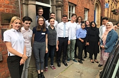 Andy Burnham is pictured at MP Debbie Abrahams'�fifth annual summer school
