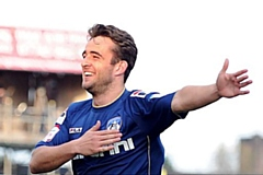 Jose Baxter celebrates a goal during his first spell with Athletic
