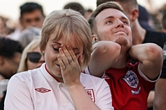 It proved to be utter dejection for England fans last night