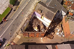 A drone picture of the Oldham property owned by Riaz Ahmad