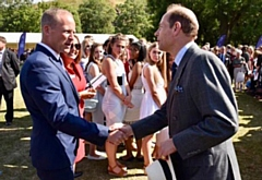 Steve Hill meets Prince Edward at the Duke of Edinburgh awards presentations