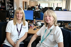Colleagues (left to right) Claire Beesley (Moving and Handling Coordinator from Pennine Care Foundation Trust) and Yvonne Beswick (Moving and Handling Assistant from Oldham Council), who now work together in The Link Centre