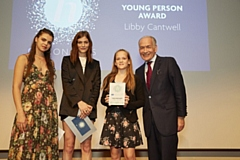 Libby Cantwell receives her Young Person Award last year