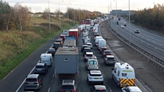 The M60 motorway queues