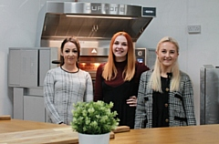 Pictured are (left to right): Georgia Woodhouse (new Sales and Customer Care Co-ordinator), Jenna Lewis (returning Commercial Director) and Cat Pollitt (new Marketing Assistant).