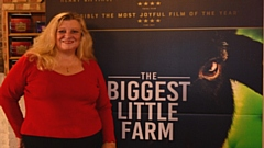 Amanda Atkins with Biggest Little Farm Poster