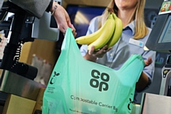 Compostable bags at the Co-Op